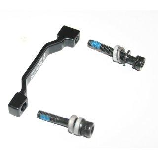 Shimano, Adapter, Disc Brake, von Postmount Bremse auf Postmount Gabel, KSMMAF180PPB, f. 180mm  Rotor, Sicherung, (HstNr = Y81734000)