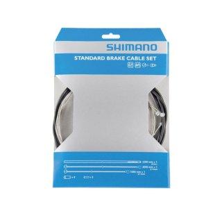 Shimano, Bremszugset vorn & hinten, MTB Standard, schwarz