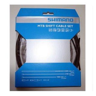 Shimano, Schaltzugset MTB Standard, Zughüllen SIS OT SP41, incl. gedichteter Hülsen und Endkappen, (HstNr = Y60098021)